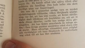 Sida ur Nils Peter Truedssons biografi över Helge Åkeson