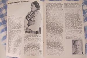 """Uppslag ur jubileumsskrift från 1970 med två kvinnor på Kåfalla. Nygårds Kersin med sin """"pondus"""" och den asketiska missionären Bull."""