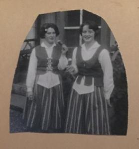 Min mamma med sin arbetskamrat