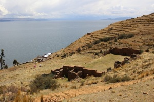 ruiner på torr ö